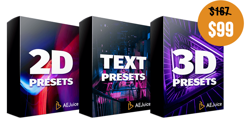 2D Animation Presetss + Text Animation Presets + 3D Animation Presets