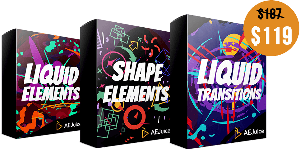 Liquid Elements + Shape Element + Liquid Transitions