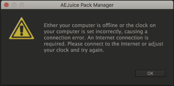 Either your computer is offline or the clock on your