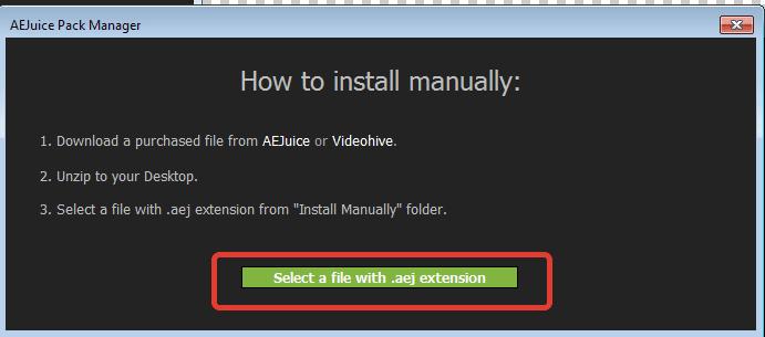aejuice install manually