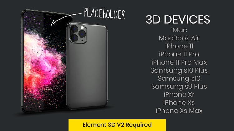 3D Devices Collection for Element 3D