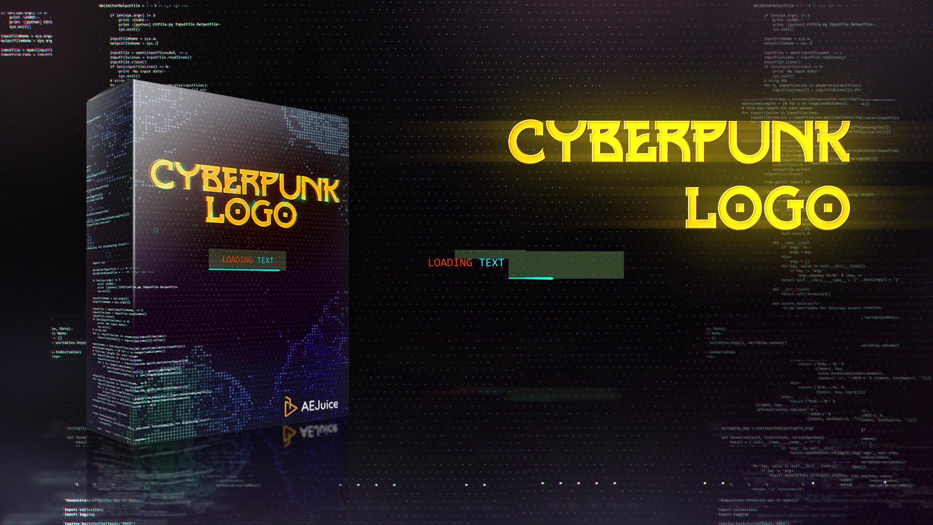 Cyberpunk Glitch Logo Animation