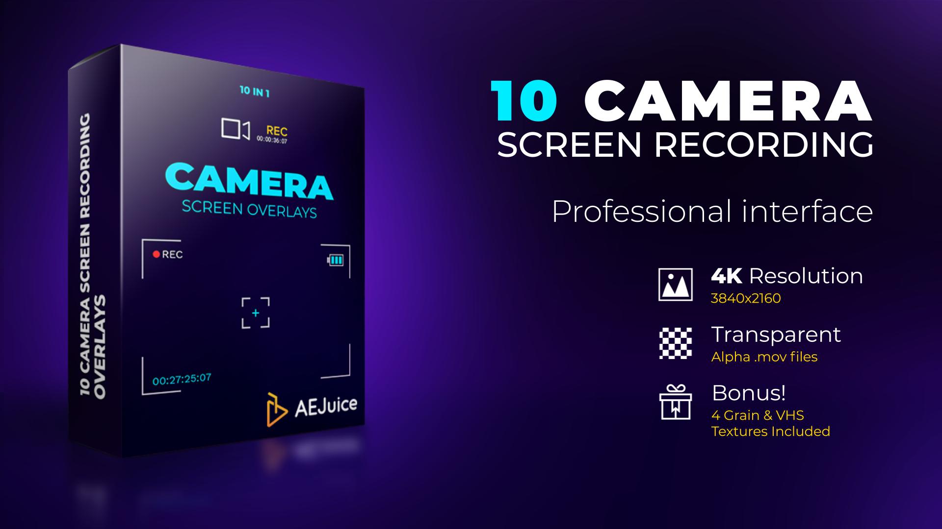 Camera Screen Recordings Overlays