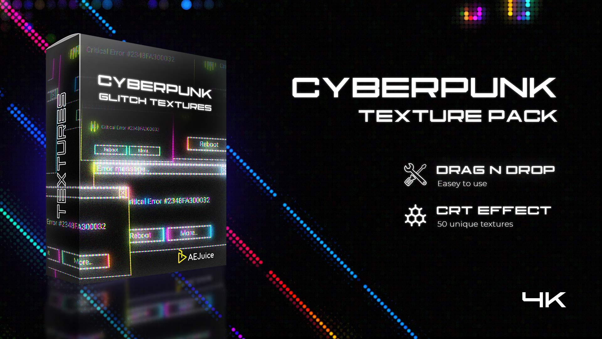 Cyberpunk Glitch Texture Pack